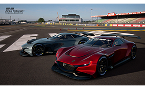 Mazda Begins Providing, Virtual Racing Car, <br>Mazda RX-Vision GT3 Concept Online
